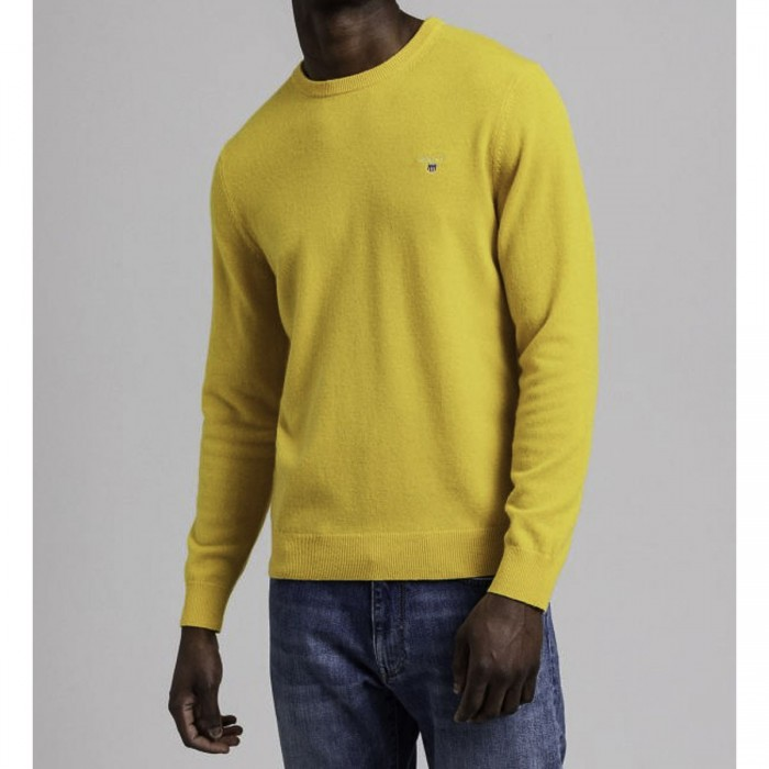 GANT Superfine Lambswool Neck Sweater - @@3G86211