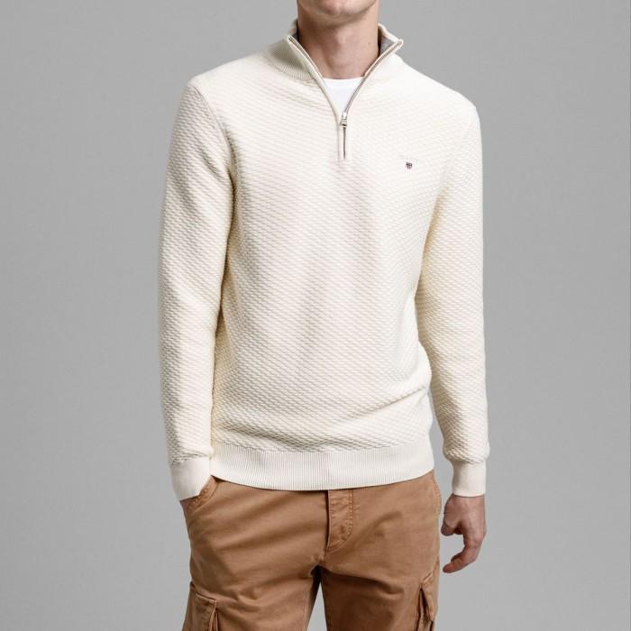 GANT Triangle Texture Half-Zip Sweater - 3G8030085
