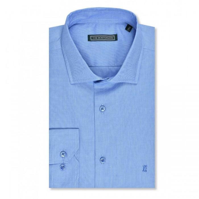 THE BOSTONIANS ανδρικό πουκάμισο μονόχρωμο super oxford - 3ANP1810