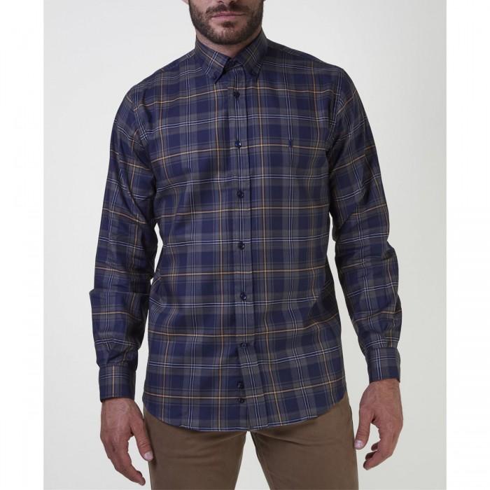 THE BOSTONIANS ανδρικό casual πουκάμισο με μεγάλο καρό print - 3AACH7936