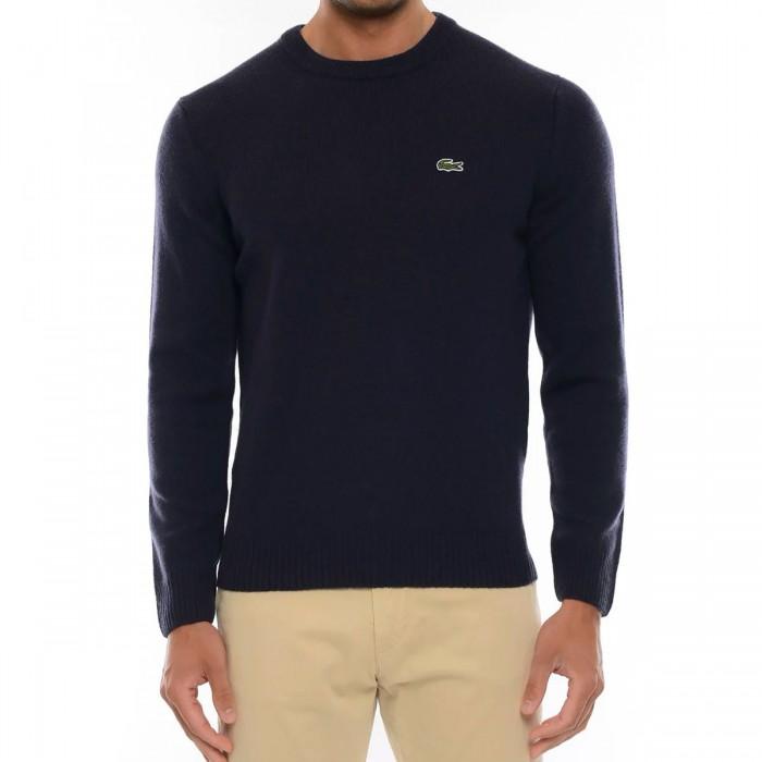 LACOSTE Men's Crew Neck Wool Sweater - 3AH1988