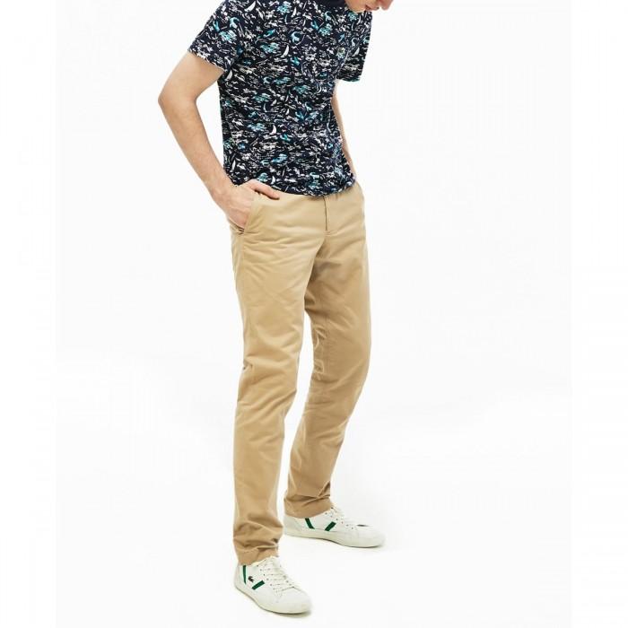 LACOSTE Men's Slim Fit Stretch Gabardine Chino Pants - @@3HH9553