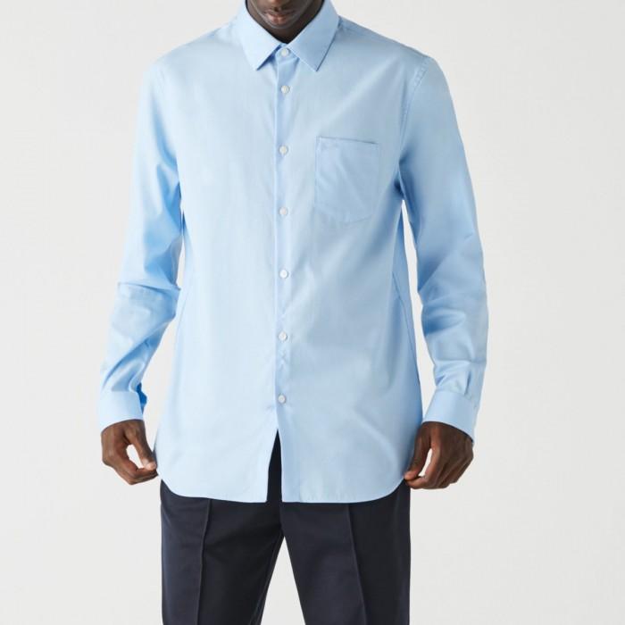 LACOSTE Men's Regular Fit Cotton Poplin Shirt - 3CH2745
