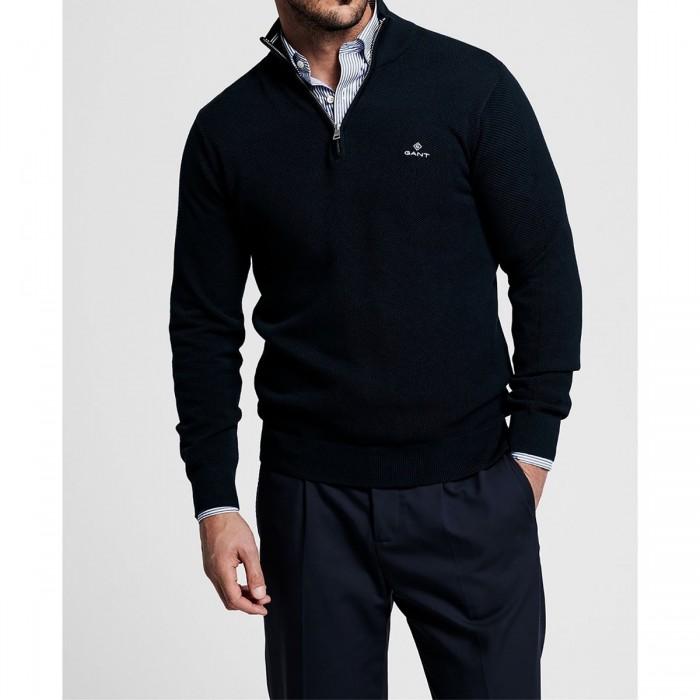 GANT Cotton Piqué Half-Zip Sweater - 3G8030523