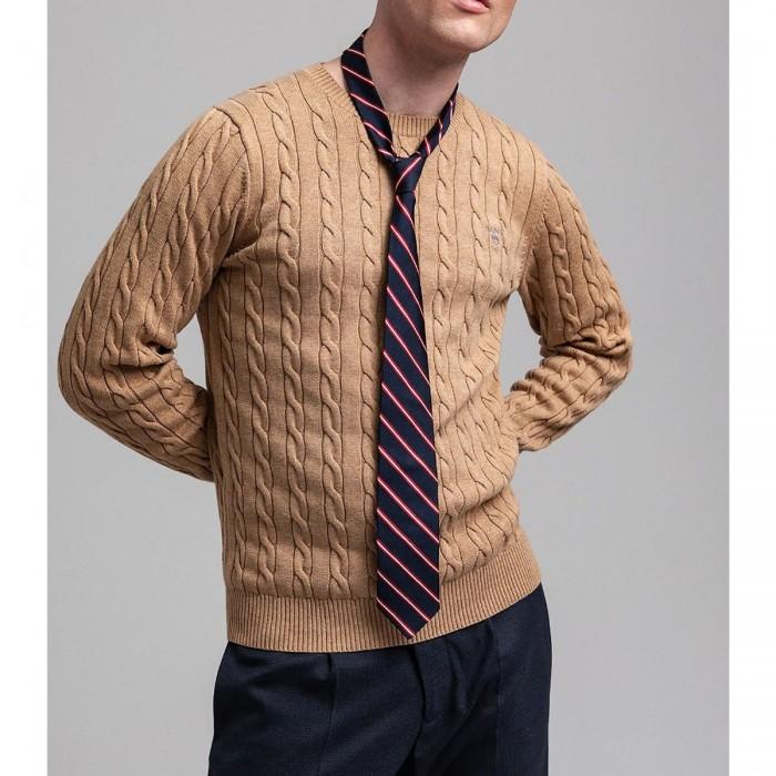 GANT Cotton Cable Crew Neck Sweater - 3G8050501