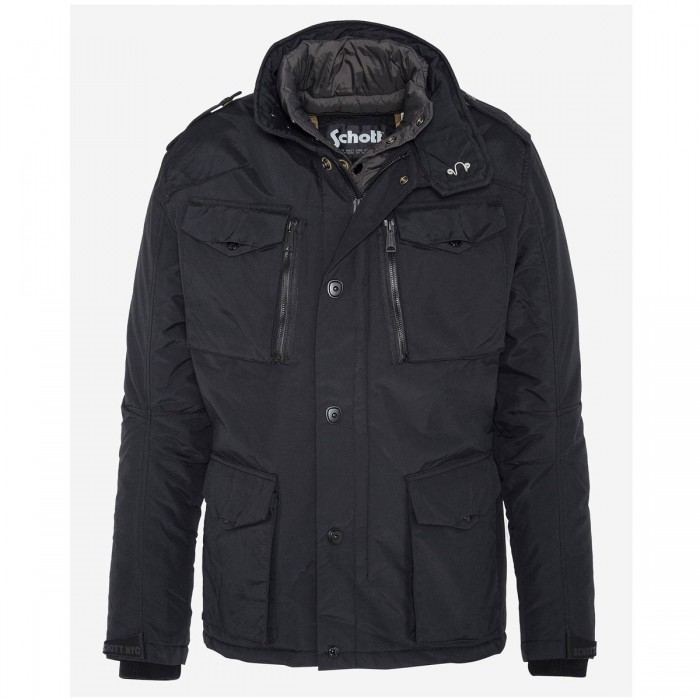 SCHOTT FIELD jacket with removable nylon center front placket