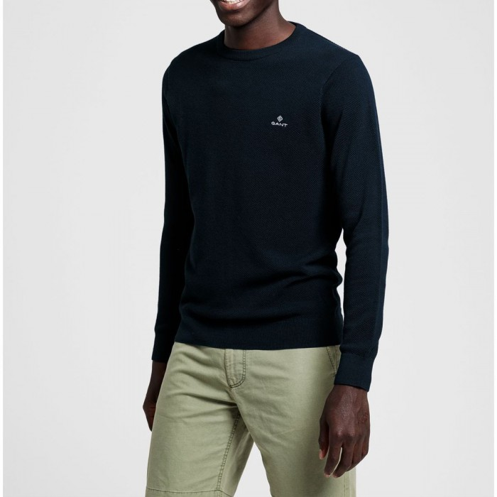 GANT Cotton Piqué Crew Sweater - 3G8030521