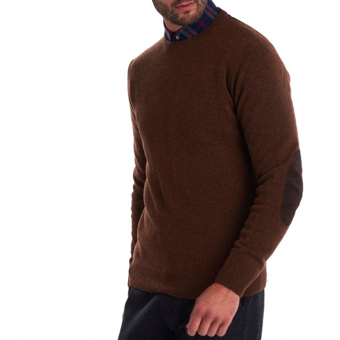 BARBOUR PATCH CREW NECK SWEATER - 3BRMKN0584