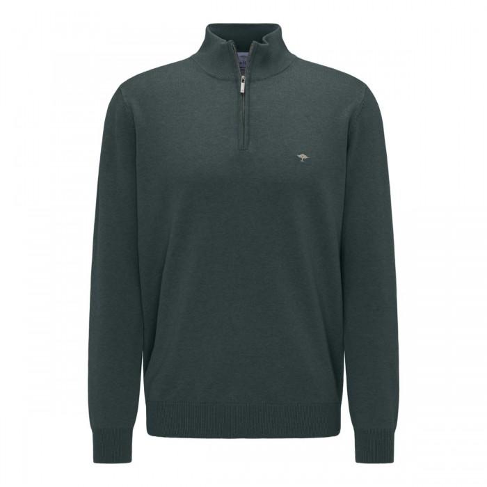 FYNCH HATTON Cotton Half-Zip Sweater - 1220  216