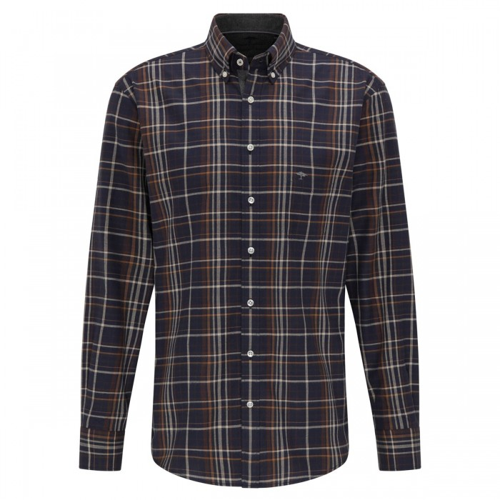 FYNCH HATTON Checked Casual-Fit Premium Shirt - 1220  6090