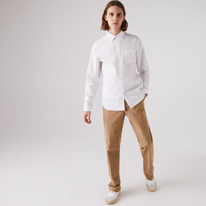 LACOSTE Men's Regular Fit Cotton Poplin Shirt - 1@3CH2745
