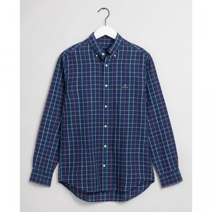 GANT Regular Fit Check Cotton Linen Shirt - 3G3011570