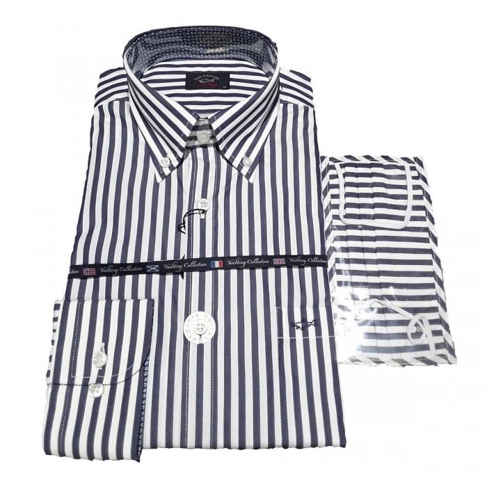 Men's Cotton Poplin Shirt - 21413008 - PAUL & SHARK