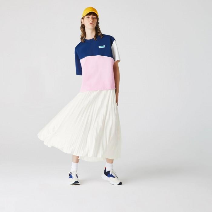 LACOSTE Women's Branded Elasticised Pleated Skirt - 3JF5455