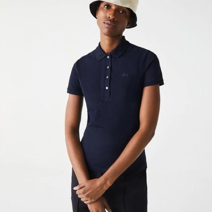LACOSTE Women's Slim fit Stretch Cotton Piqué Polo Shirt - 1@3PF5462