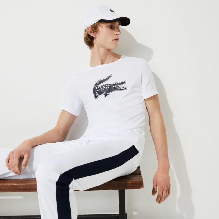 LACOSTE Men's  SPORT 3D Print Crocodile Breathable Jersey T-shirt - 1@3TH2042