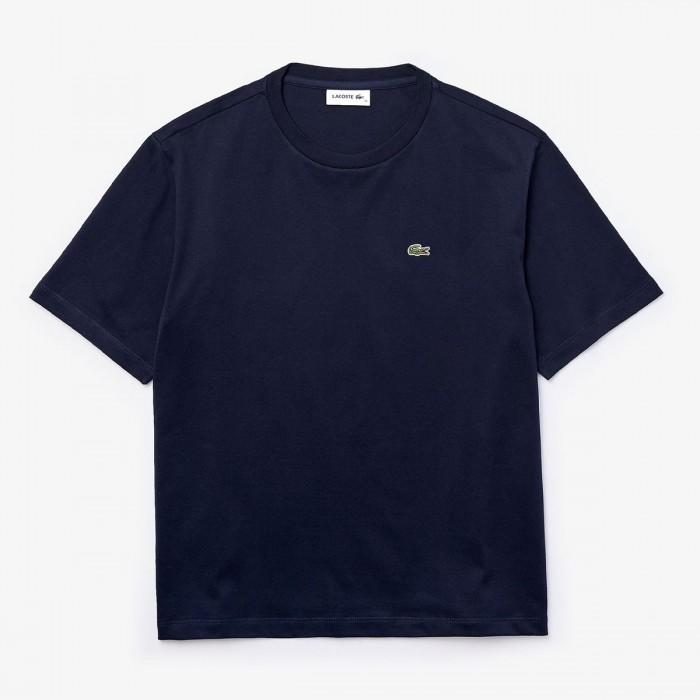 LACOSTE Women's Crew Neck Premium Cotton T-shirt - 3TF5441