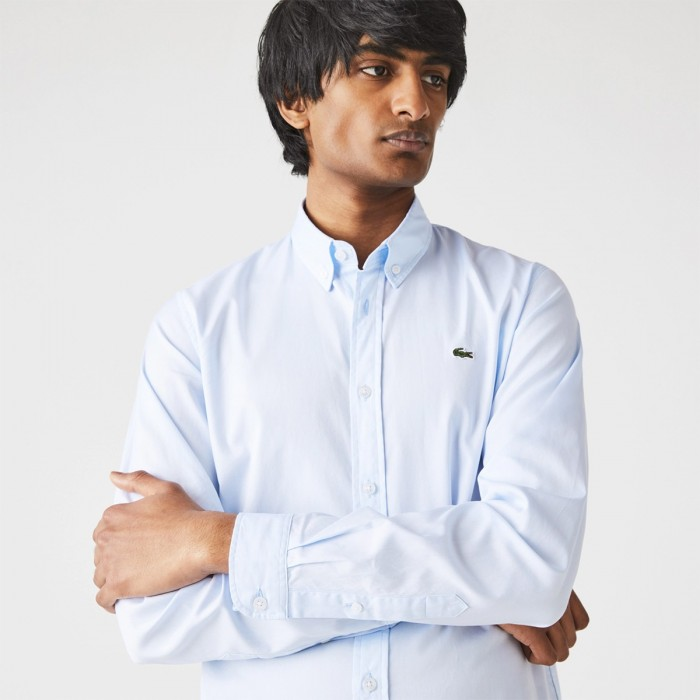 LACOSTE Men's Slim Fit Premium Cotton Shirt - 3CH1843