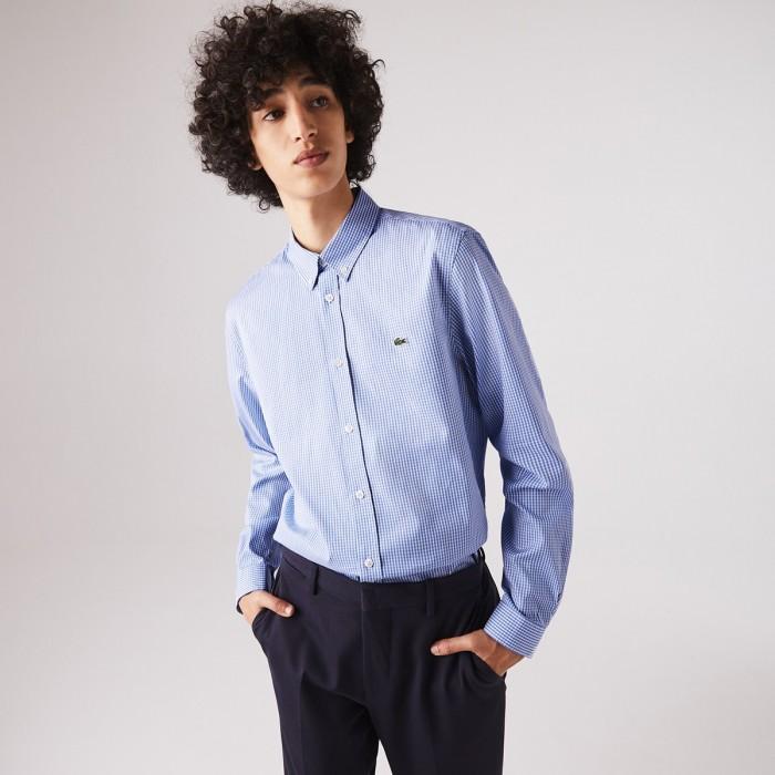 LACOSTE Men's Regular Fit Premium Cotton Shirt - 3CH2932