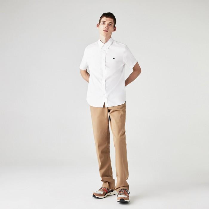 LACOSTE Men's Regular Fit Premium Cotton Shirt - 3CH2944