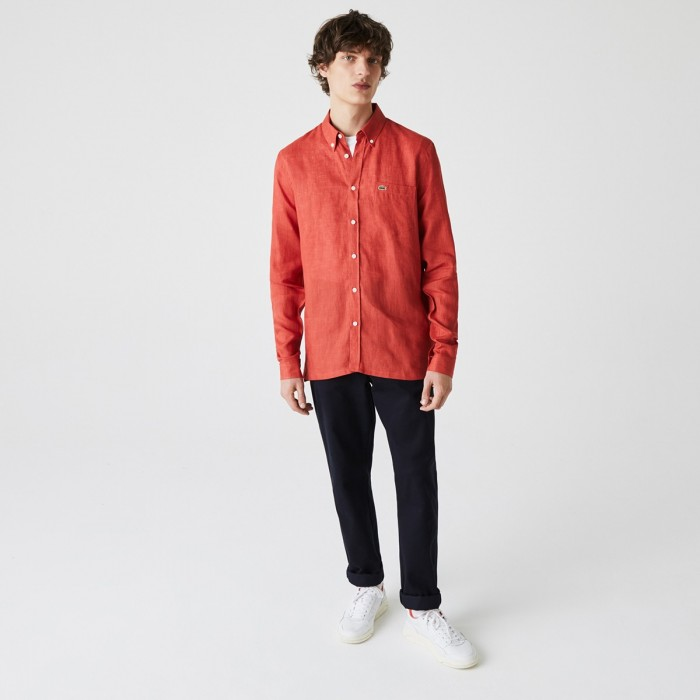 LACOSTE Men's Regular Fit Linen Shirt - 1@3CH4990