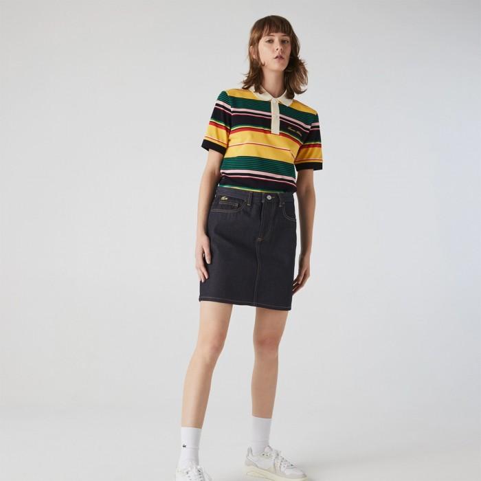 LACOSTE Women's LIVE Dark Denim Mini-Skirt - 3JF0716