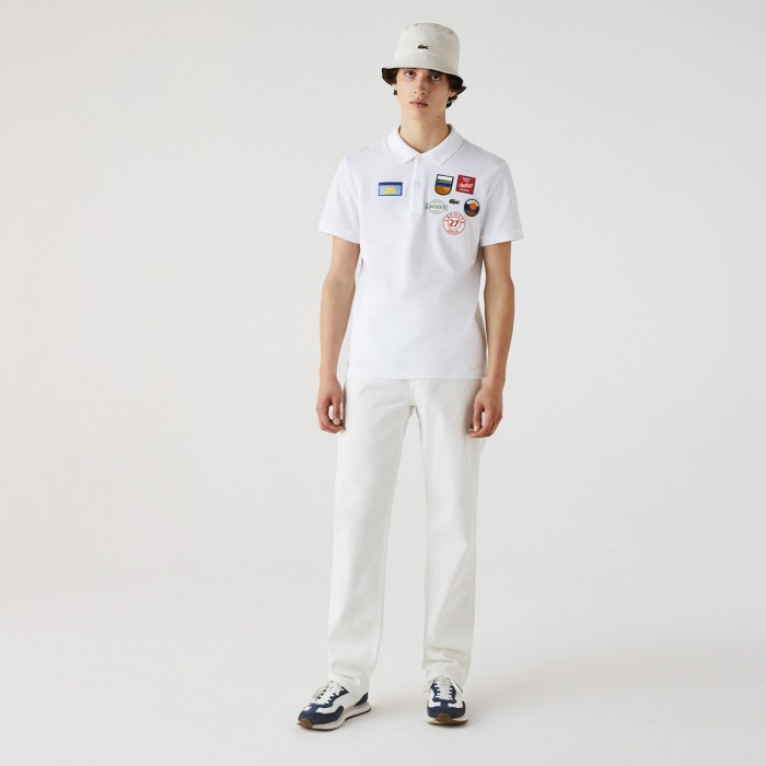 LACOSTE Men's Regular Fit Badge Cotton Polo - 3PH1842
