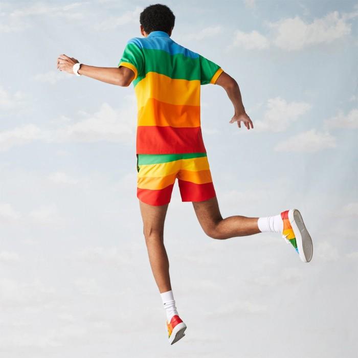 "LACOSTE Men's ""Lacoste x Polaroid"" Colour Striped Classic Fit Polo Shirt - 3PH2082"
