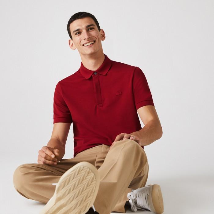 LACOSTE  Men's Paris Polo Shirt Regular Fit Stretch Cotton Piqué - 1@3PH5522