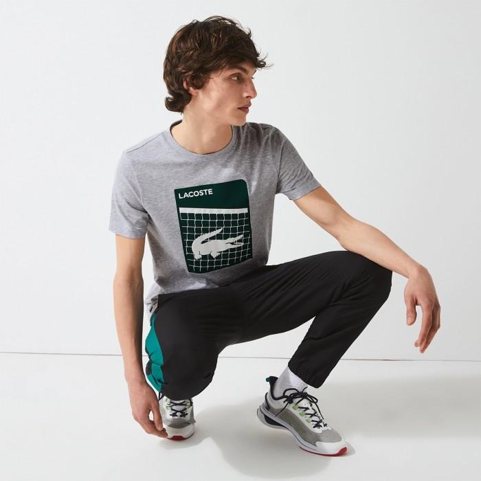 LACOSTE Men's SPORT 3D Print Breathable T-shir - 3TH9654