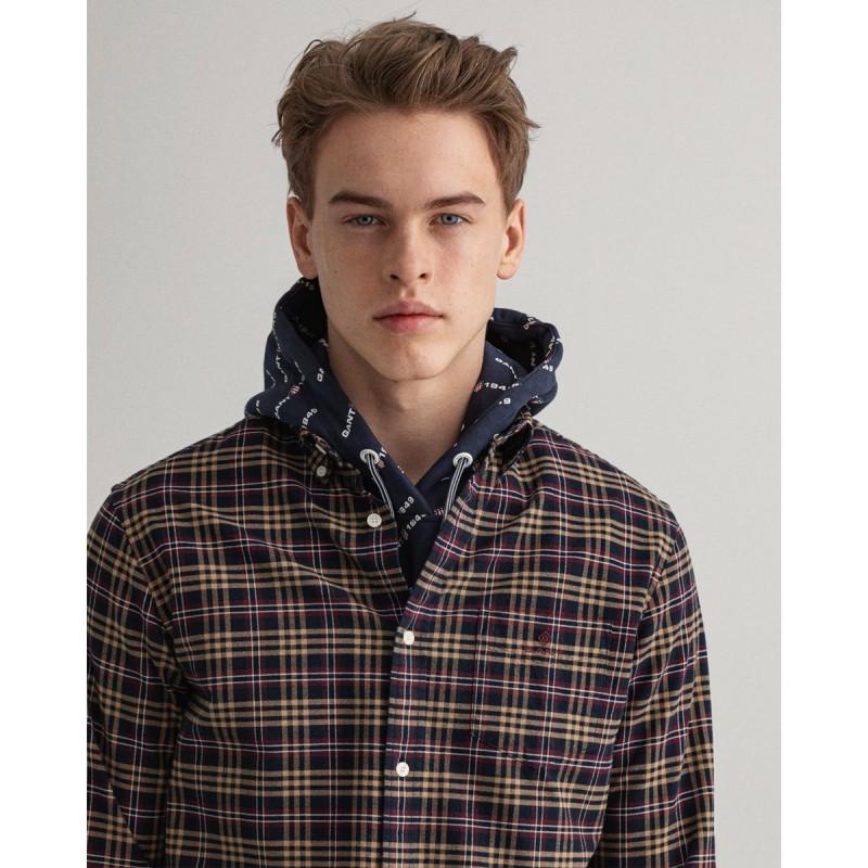 GANT Regular Fit Check Brushed Oxford Shirt - 3G3016970