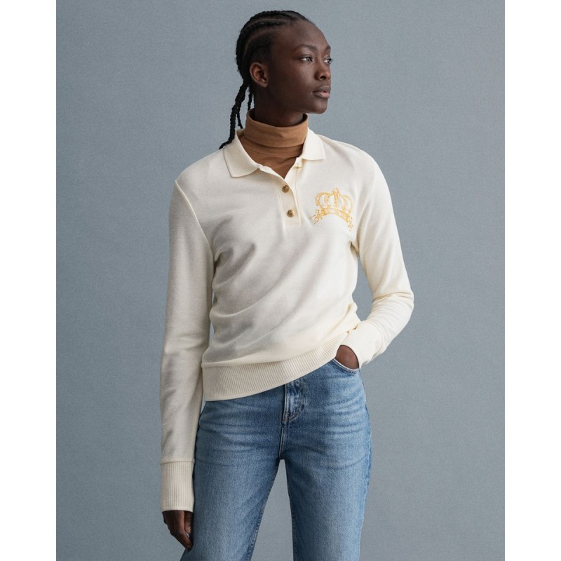 GANT Crown Embroidery Piqué Polo Shirt - 3GW4201513