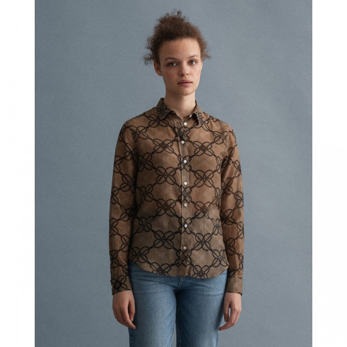 GANT Rope Print Cotton Silk Shirt - 3GW4320183