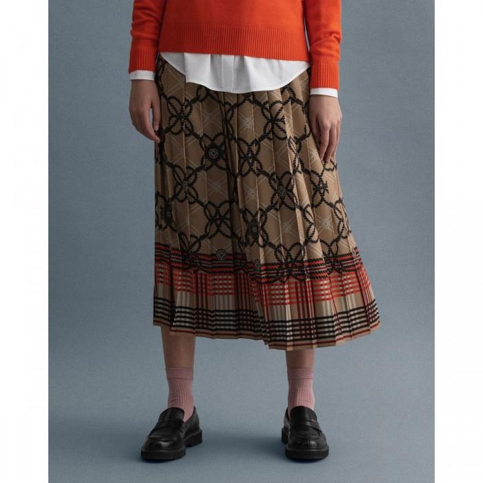 GANT Pleated Rope Print Skirt - 3GW4401083