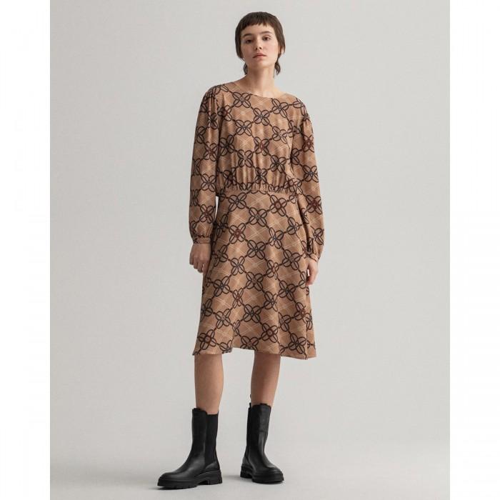 GANT Rope Print Viscose Crepe Dress - 3GW4503155
