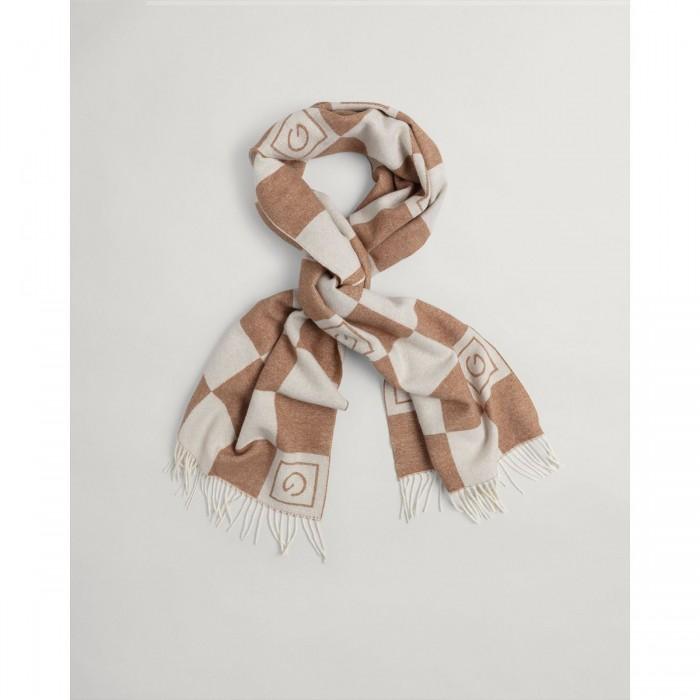 GANT Tonal Check Wool Scarf - 3GW4920144