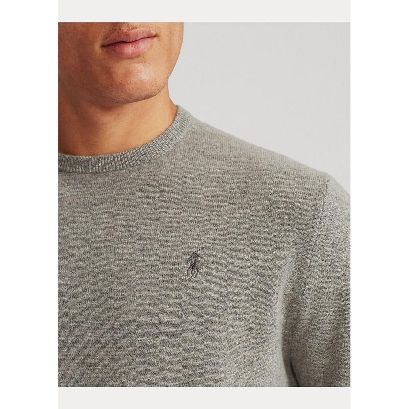 Merino Wool Crewneck Sweater - 710667378002 - POLO RALPH LAUREN
