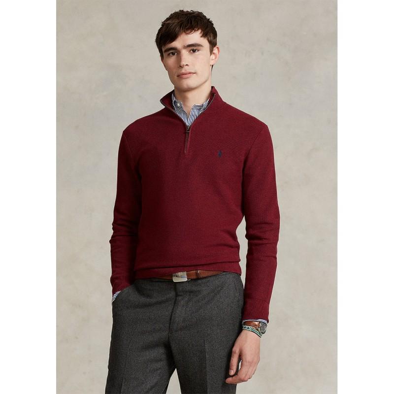 Mesh-Knit Cotton Quarter-Zip Sweater - 710701611048 - POLO RALPH LAUREN