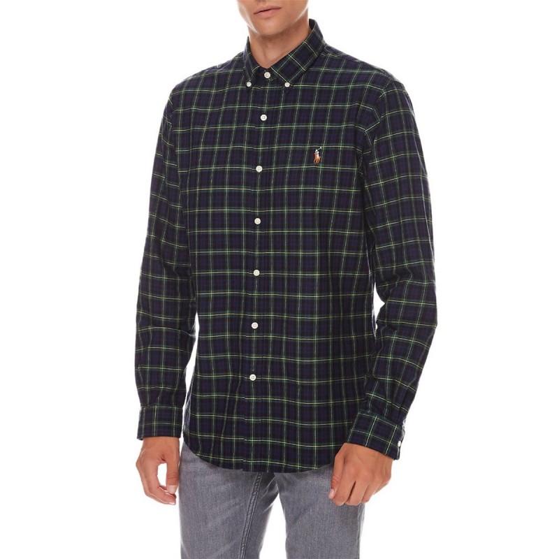 Slim fit checked Oxford shirt - 710853154002 - POLO RALPH LAUREN