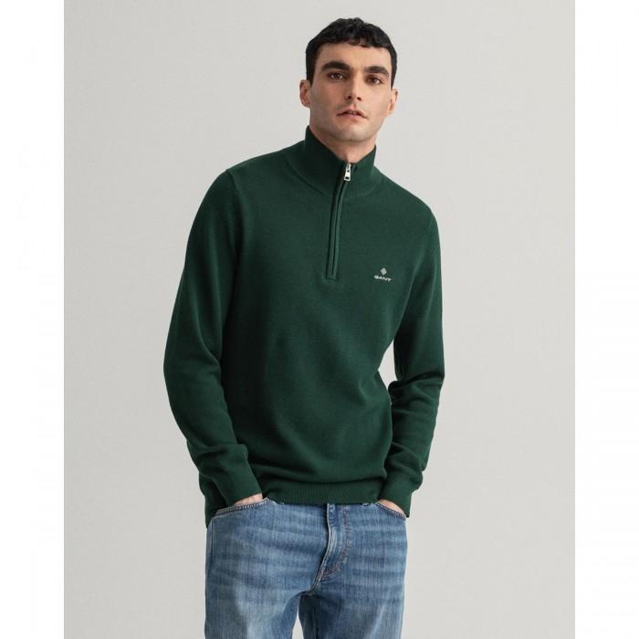GANT Cotton Piqué Half-Zip Sweater - 2@3G8030523