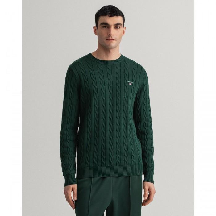 GANT Cotton Cable Crew Neck Sweater - 2@3G8050501