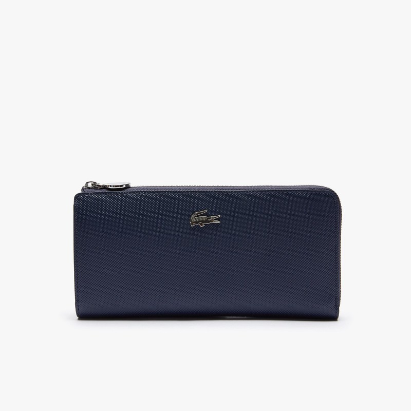 LACOSTE Women's Daily Classic Coated Piqué Canvas 10 Card Zip Wallet - 2@3NF2780DC