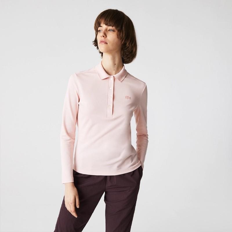 LACOSTE Women's Slim fit Stretch Piqué Lacoste Polo Shirt - 3PF5464
