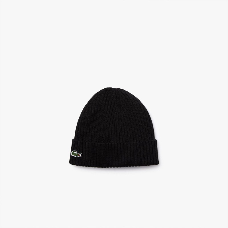 LACOSTE Men's Ribbed Wool Beanie - 2@3RB4162