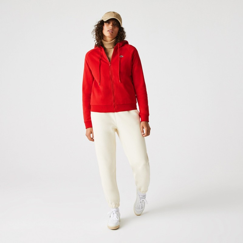 LACOSTE Women's Cotton Blend Fleece Zip Hoodie - 3SF7090