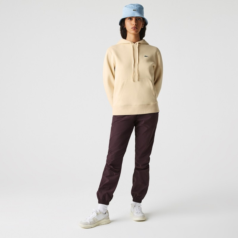 LACOSTE Women's Loose Fit Cotton Blend Hoodie - 3SF7099