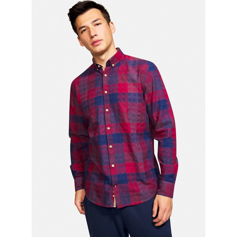 SHIRT CHECK PATTERN RED BLUE - 9221-250 - COLOURS & SONS