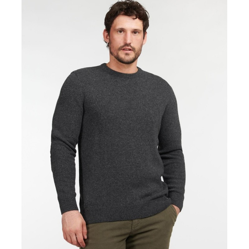 BARBOUR ESSENTIAL DIAMOND QUILTED CREW SWEATER - MKN1340