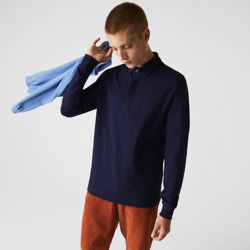 LACOSTE Men's Long-sleeve Lacoste Paris Classic Fit Polo Shirt Stretch - 2@3PH2481