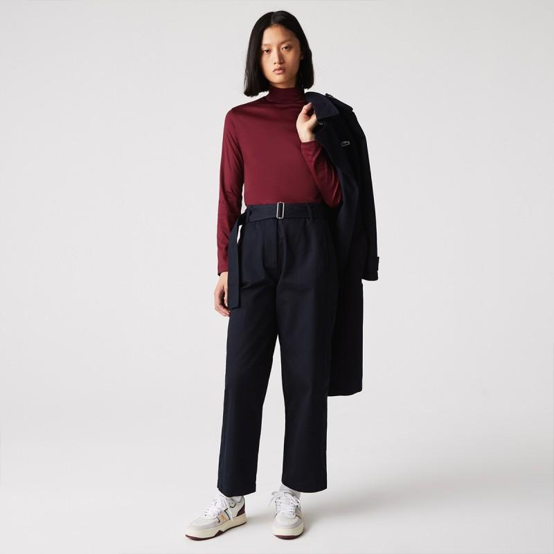 LACOSTE Women's Cotton Turtleneck - 3TF2310